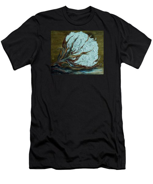 Cotton Boll On Wood Men's T-Shirt (Athletic Fit)