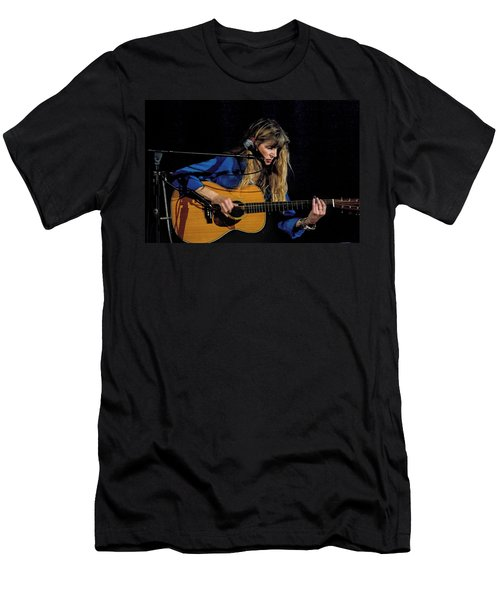 Country Blues Singer Rory Block In Concert Men's T-Shirt (Athletic Fit)