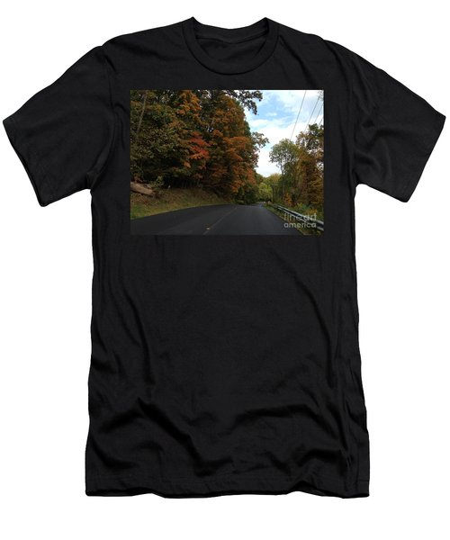Country Road In Autumn Men's T-Shirt (Athletic Fit)