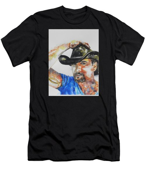 Country Singer Tim Mcgraw 02 Men's T-Shirt (Athletic Fit)