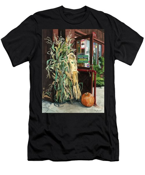 Men's T-Shirt (Slim Fit) featuring the painting Country Store by Barbara Jewell