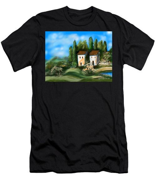 Countryside Men's T-Shirt (Slim Fit) by Christine Fournier