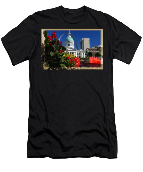 Courthouse Arch Skyline Fountain Men's T-Shirt (Athletic Fit)