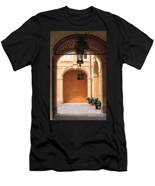 Courtyard Of Siena Men's T-Shirt (Athletic Fit)
