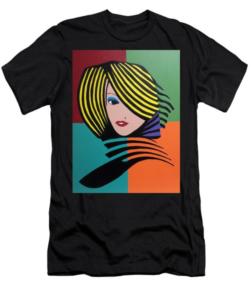 Cover Girl Men's T-Shirt (Slim Fit) by Angelo Thomas