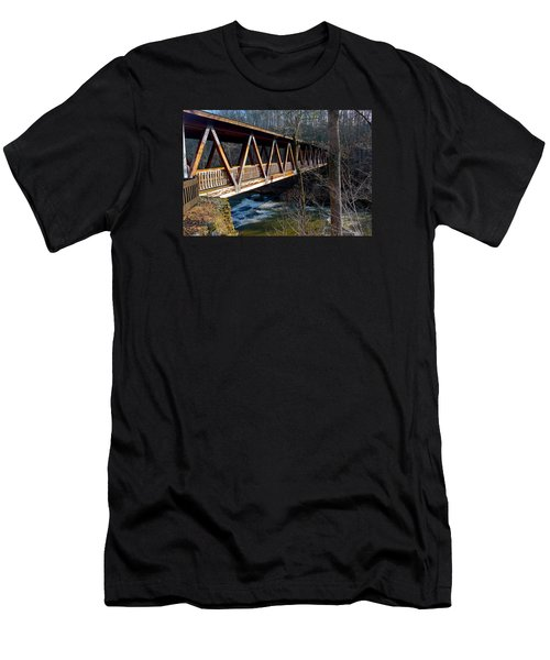 Covered Bridge In Roswell Men's T-Shirt (Athletic Fit)