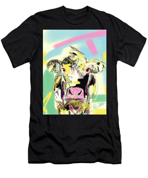 Cow- Happy Cow Men's T-Shirt (Athletic Fit)