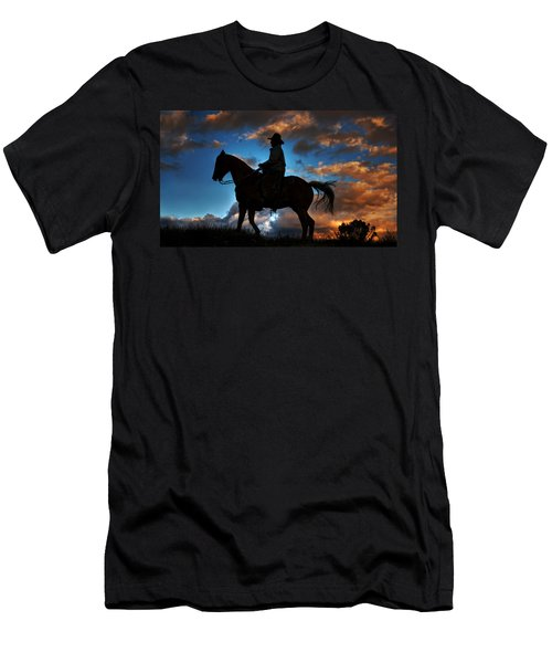 Men's T-Shirt (Slim Fit) featuring the photograph Cowboy Silhouette by Ken Smith