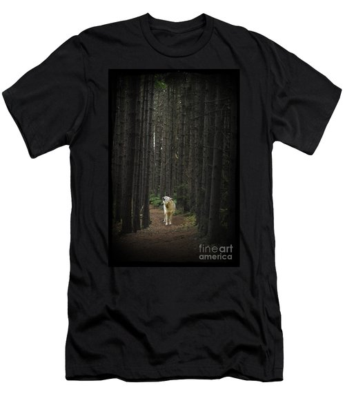 Coyote Howling In Woods Men's T-Shirt (Athletic Fit)