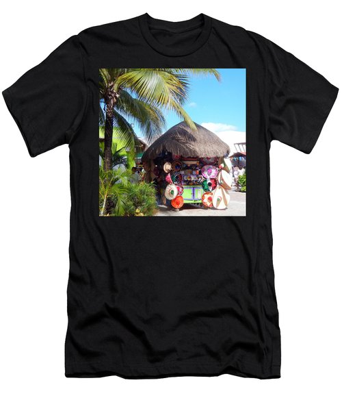 Cozumel Souvernir Shopping Men's T-Shirt (Slim Fit) by Debra Martz