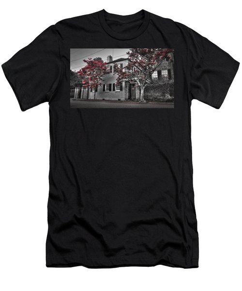 Crape Myrtles In Historic Downtown Charleston 1 Men's T-Shirt (Athletic Fit)