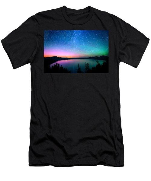 Crater Lake Aurora  Men's T-Shirt (Athletic Fit)