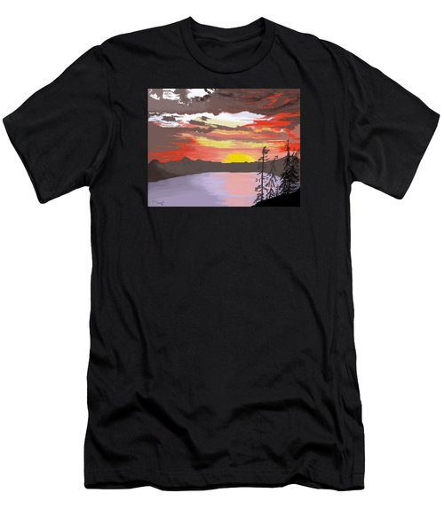 Crater Lake Men's T-Shirt (Athletic Fit)