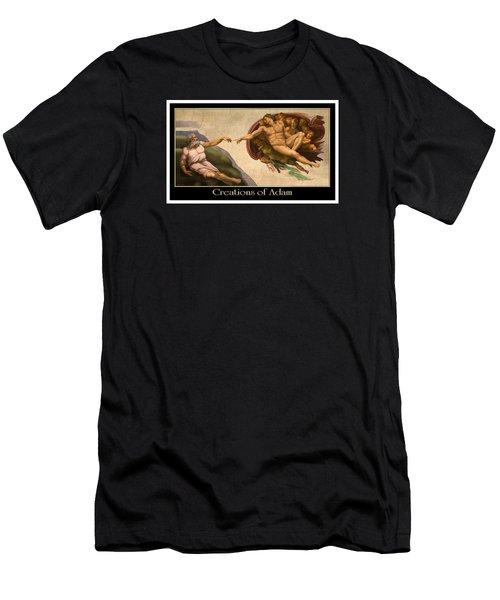 Men's T-Shirt (Slim Fit) featuring the digital art Creations Of Adam by Scott Ross