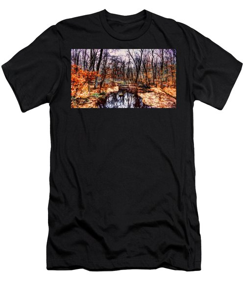 Creek At Pyramid Mountain Men's T-Shirt (Athletic Fit)