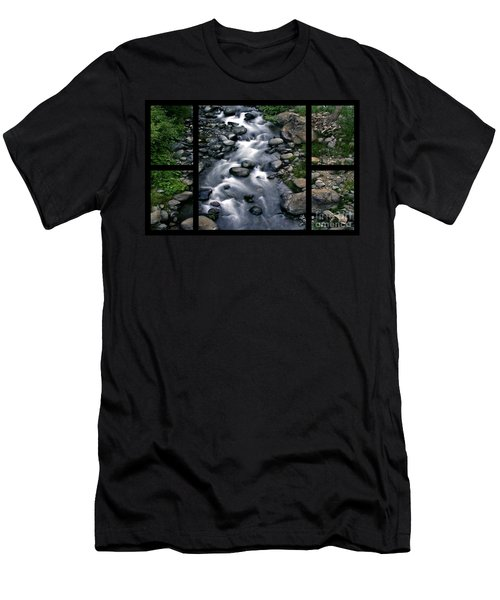 Creek Flow Polyptych Men's T-Shirt (Athletic Fit)