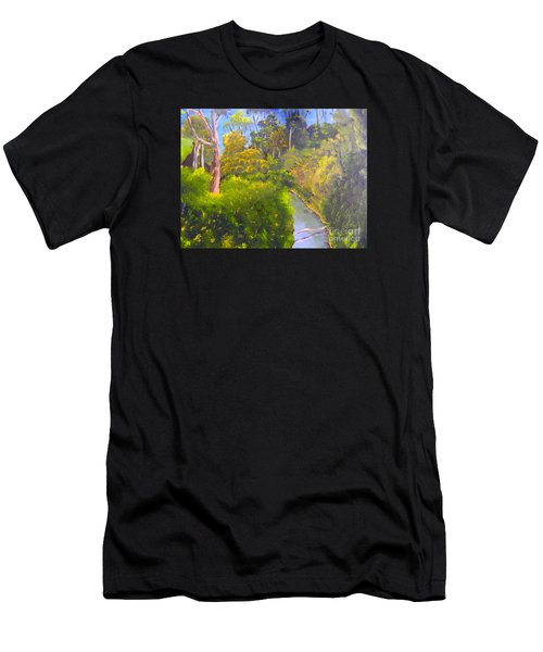Creek In The Bush Men's T-Shirt (Athletic Fit)