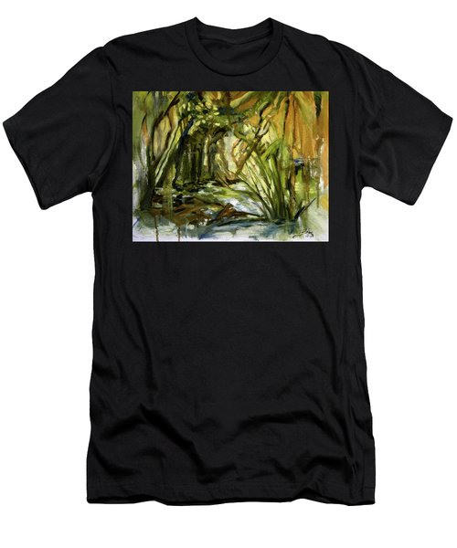 Creek Levels With Overhang Men's T-Shirt (Athletic Fit)