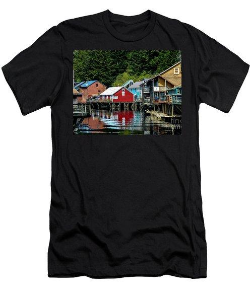 Creek Street - Ketchikan Alaska Men's T-Shirt (Athletic Fit)