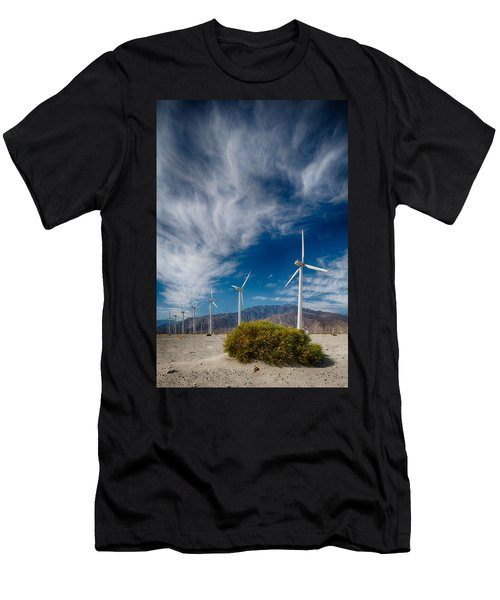 Creosote And Wind Turbines Men's T-Shirt (Athletic Fit)