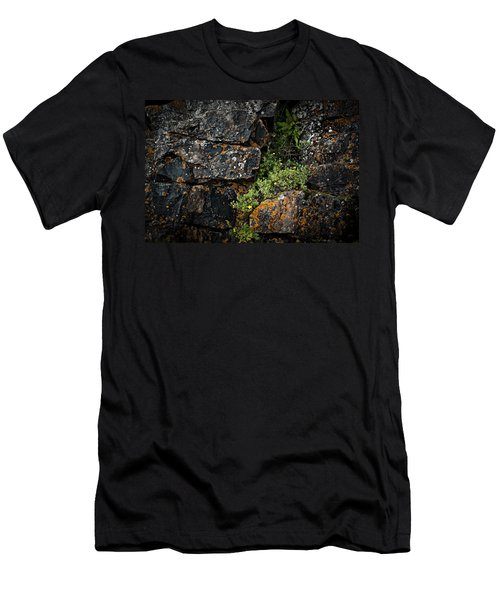 Men's T-Shirt (Athletic Fit) featuring the photograph Crevice  by Doug Gibbons