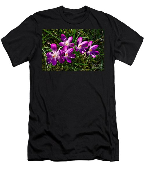 Crocus In The Grass Men's T-Shirt (Athletic Fit)