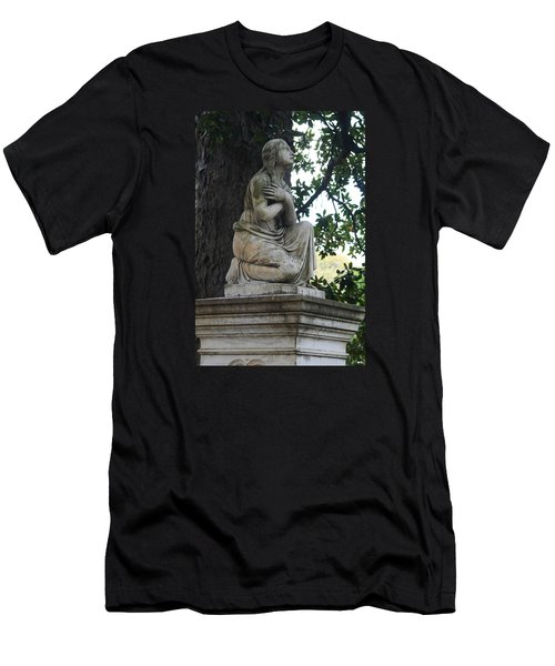 Men's T-Shirt (Slim Fit) featuring the photograph I Cross My Heart Angel by Lesa Fine