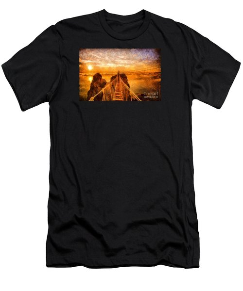 Cross That Bridge Men's T-Shirt (Slim Fit) by Catherine Lott