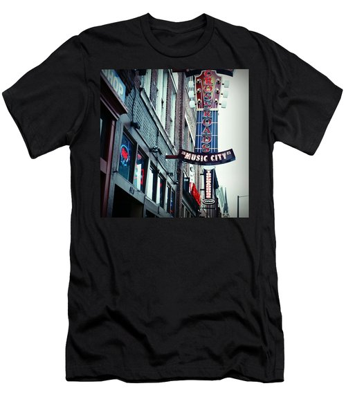 Crossroads Men's T-Shirt (Slim Fit) by Linda Unger