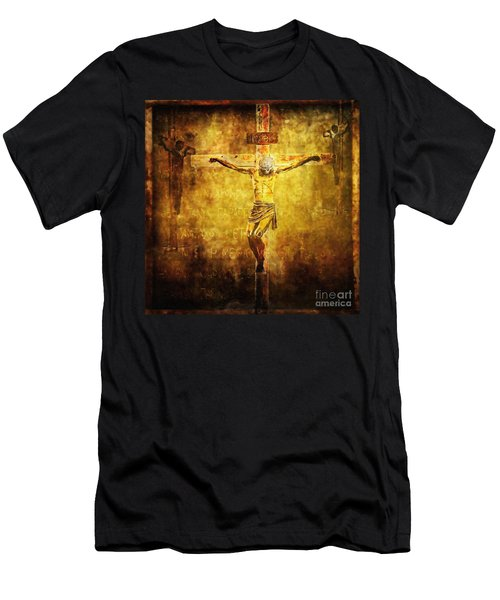 Crucified Via Dolorosa 12 Men's T-Shirt (Athletic Fit)