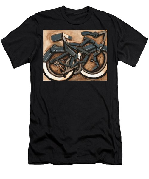 Abstract Blue Cruiser Bicycle Art Print Men's T-Shirt (Athletic Fit)