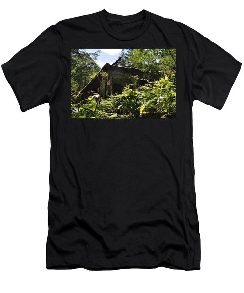 Men's T-Shirt (Slim Fit) featuring the photograph Crumbling Down by Cathy Mahnke