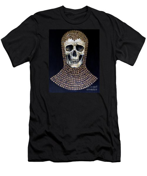 Men's T-Shirt (Slim Fit) featuring the painting Crusader by Arturas Slapsys