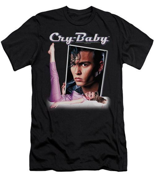 Cry Baby - Title Men's T-Shirt (Athletic Fit)