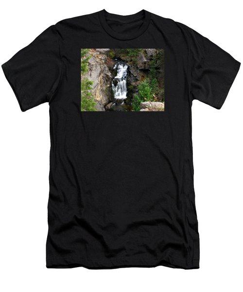 Crystal Falls Men's T-Shirt (Slim Fit) by Greg Patzer