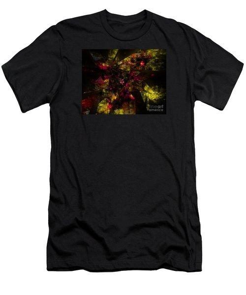 Men's T-Shirt (Slim Fit) featuring the digital art Crystal Inspiration #1 by Olga Hamilton