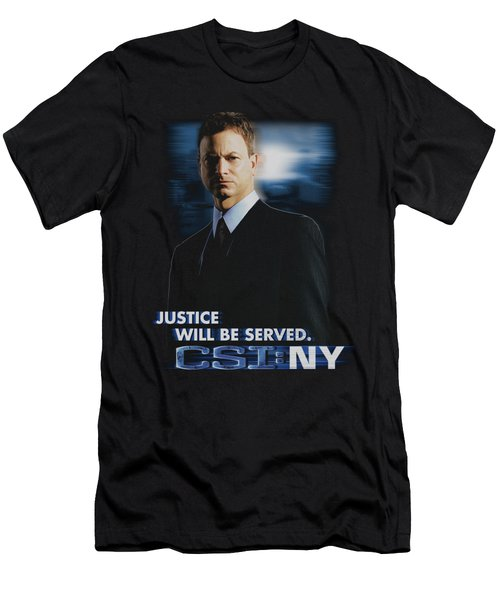 Csi:ny - Justice Served Men's T-Shirt (Athletic Fit)