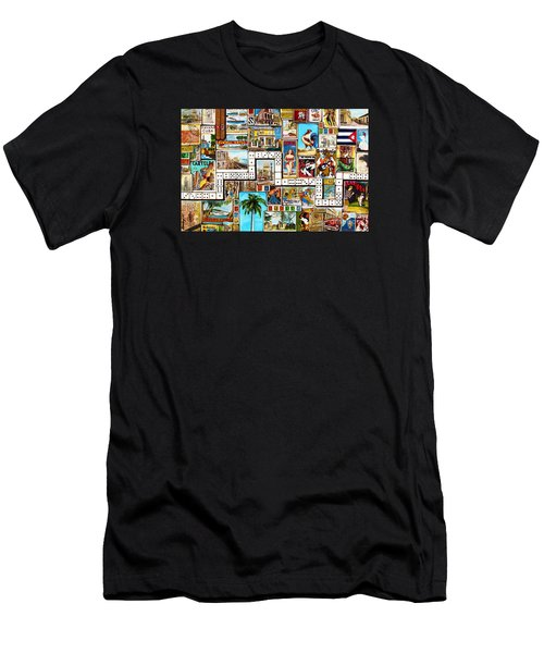 Men's T-Shirt (Slim Fit) featuring the painting Cubana by Joseph Sonday