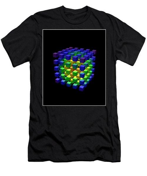 Men's T-Shirt (Slim Fit) featuring the digital art Cube Of Cubes... by Tim Fillingim
