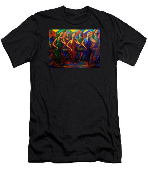 Cubism Music I Men's T-Shirt (Athletic Fit)