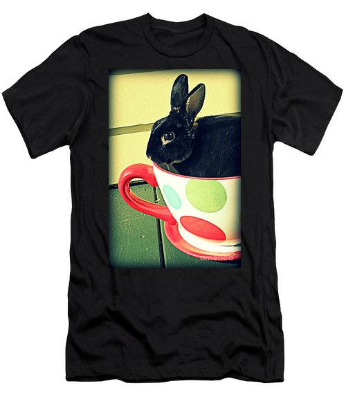 Cup O' Rabbit Men's T-Shirt (Slim Fit) by Valerie Reeves