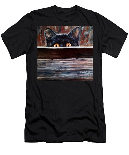 Curiosity Men's T-Shirt (Slim Fit) by Julie Brugh Riffey
