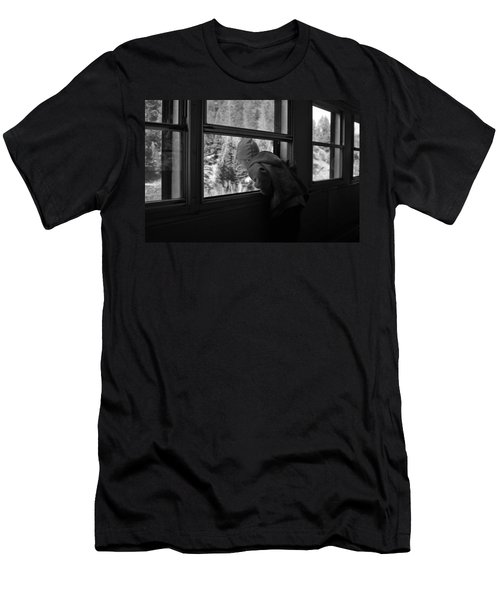 Men's T-Shirt (Slim Fit) featuring the photograph Curious by Jeremy Rhoades