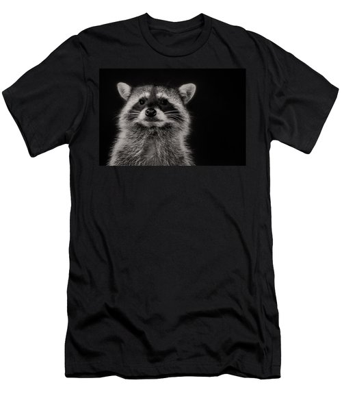 Curious Raccoon Men's T-Shirt (Athletic Fit)