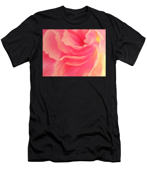 Curling Blossom Men's T-Shirt (Athletic Fit)