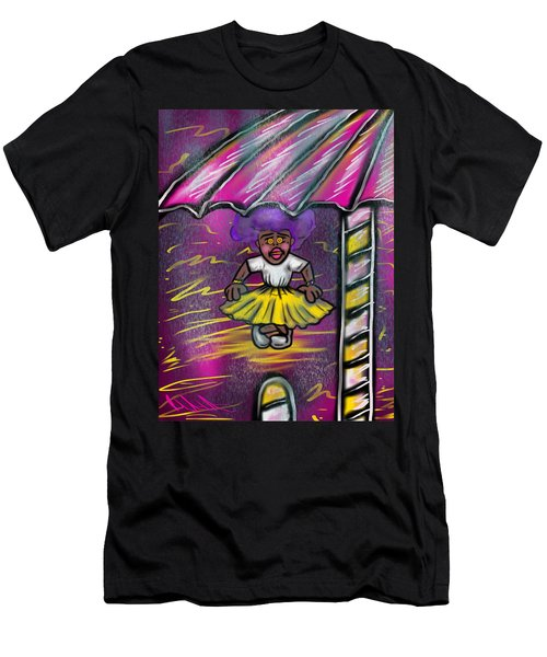 Curtsy Doll Rain Men's T-Shirt (Athletic Fit)