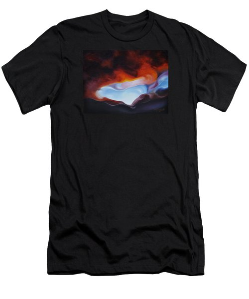 Men's T-Shirt (Slim Fit) featuring the painting Curves On The Horizon by Craig Burgwardt