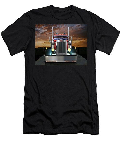 Custom Peterbilt Men's T-Shirt (Slim Fit) by Stuart Swartz