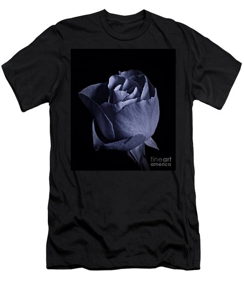 Cyan Rose Portrait Men's T-Shirt (Athletic Fit)