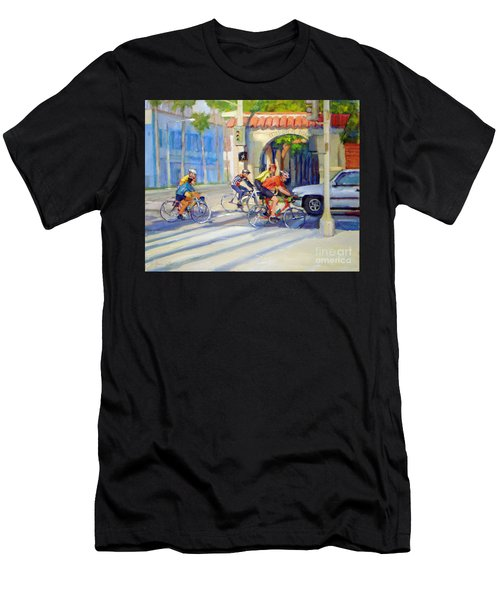 Cycling Past The Archway Men's T-Shirt (Athletic Fit)